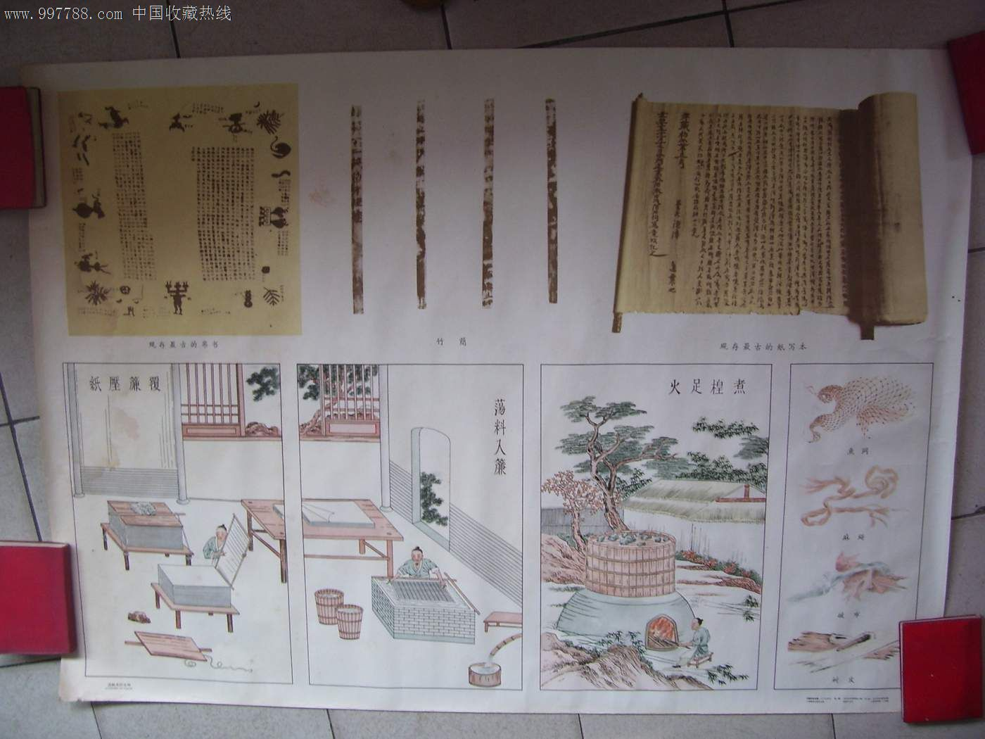 (中国历史挂图)造纸术图片