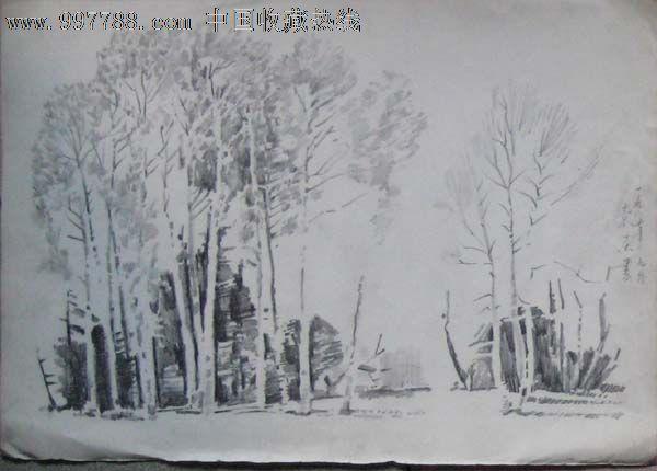 八七年老铅笔画——风景