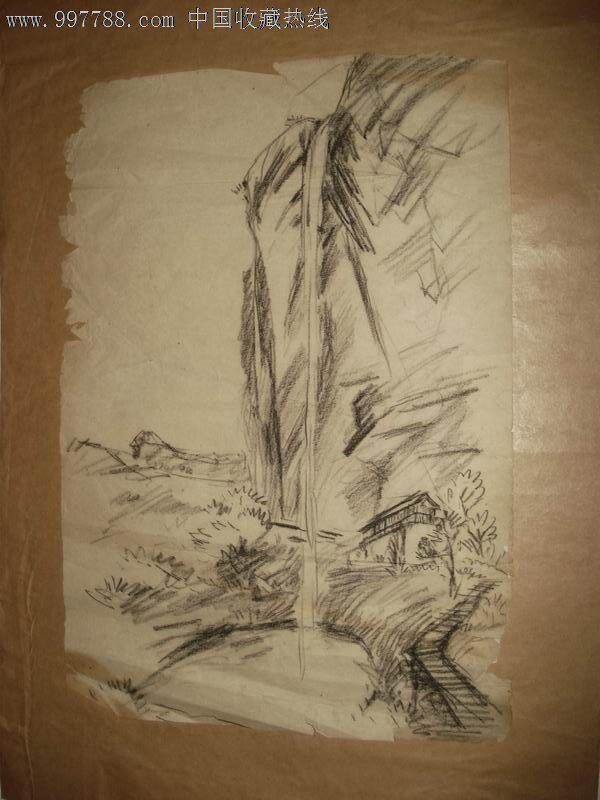 铅笔画山水画的步骤