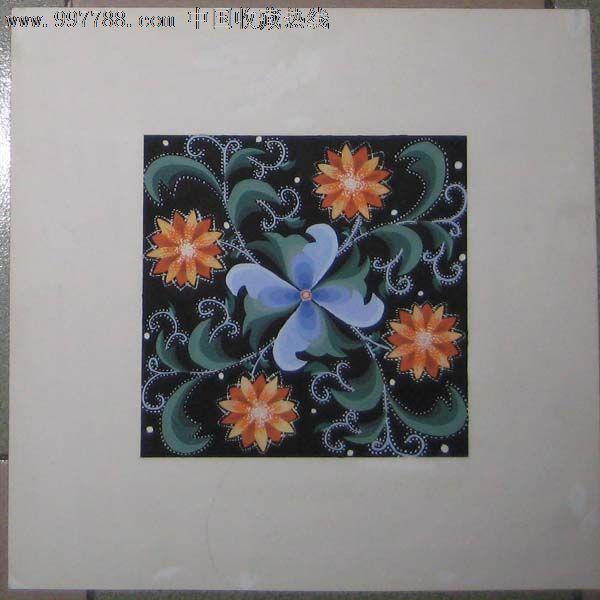 手绘装饰画——花卉08(水粉画)