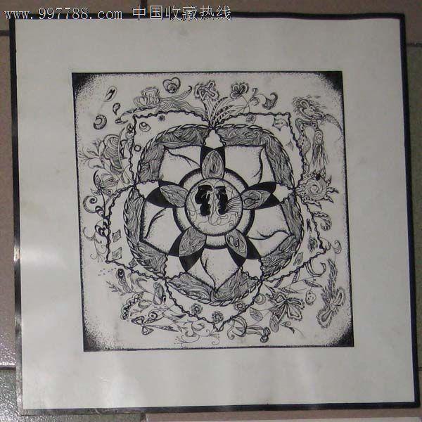 手绘钢笔装饰画——花卉01图片