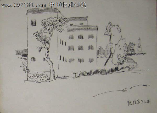 无款钢笔画——布达拉宫下山路