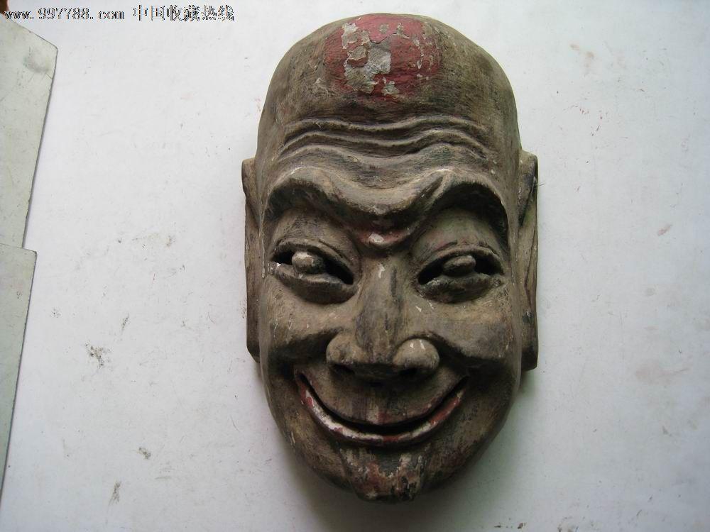 木雕,面具【五马大墙】