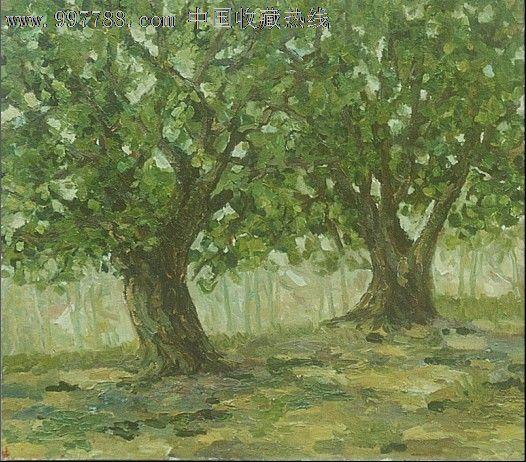 原创作品:《两棵树》-油画原画--se12697908-零售-脂
