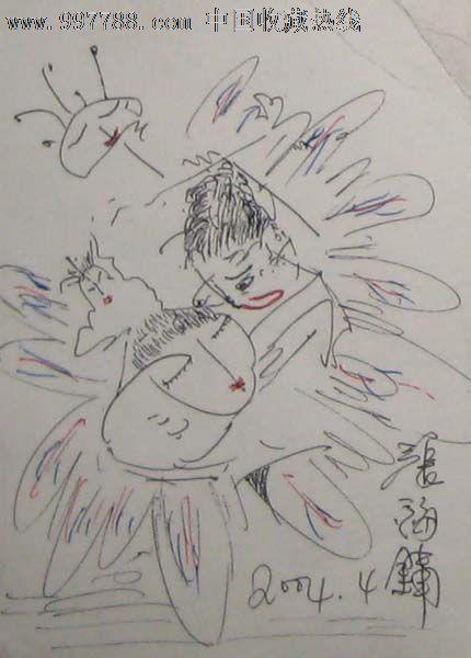 现代钢笔画——人物018