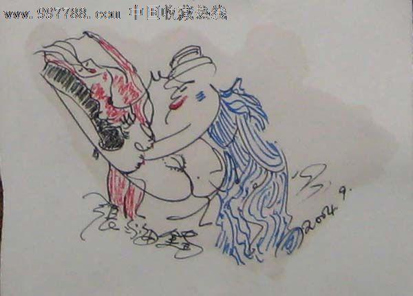 钢笔彩铅画——人物13