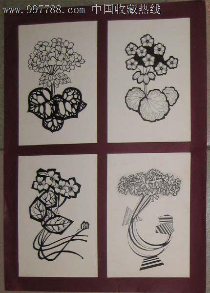 花卉设计原稿 花卉变形 钢笔画