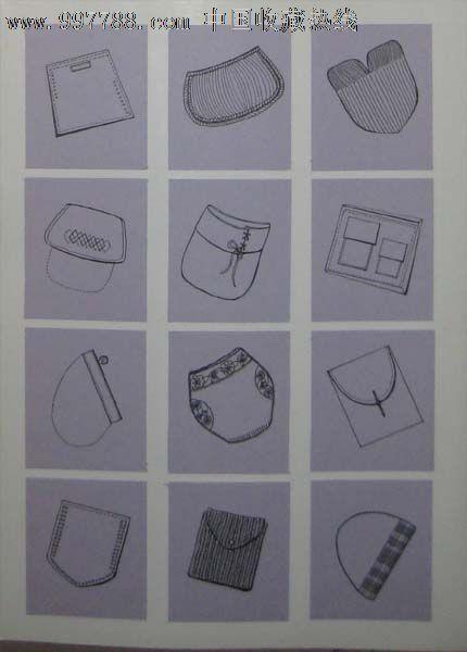 服装设计原稿——女装衣袋设计图片