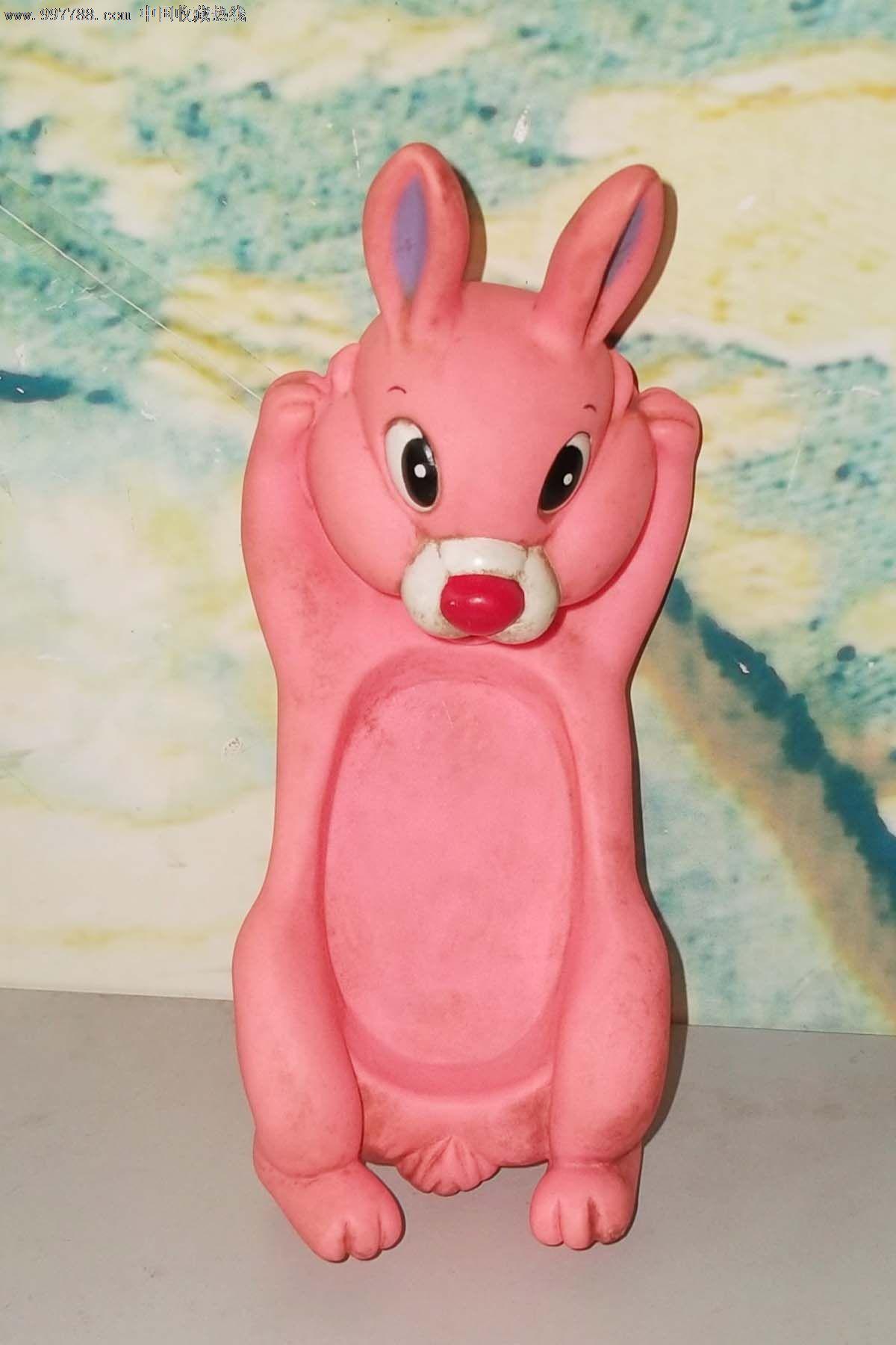 粉红色兔子10cmx22cm