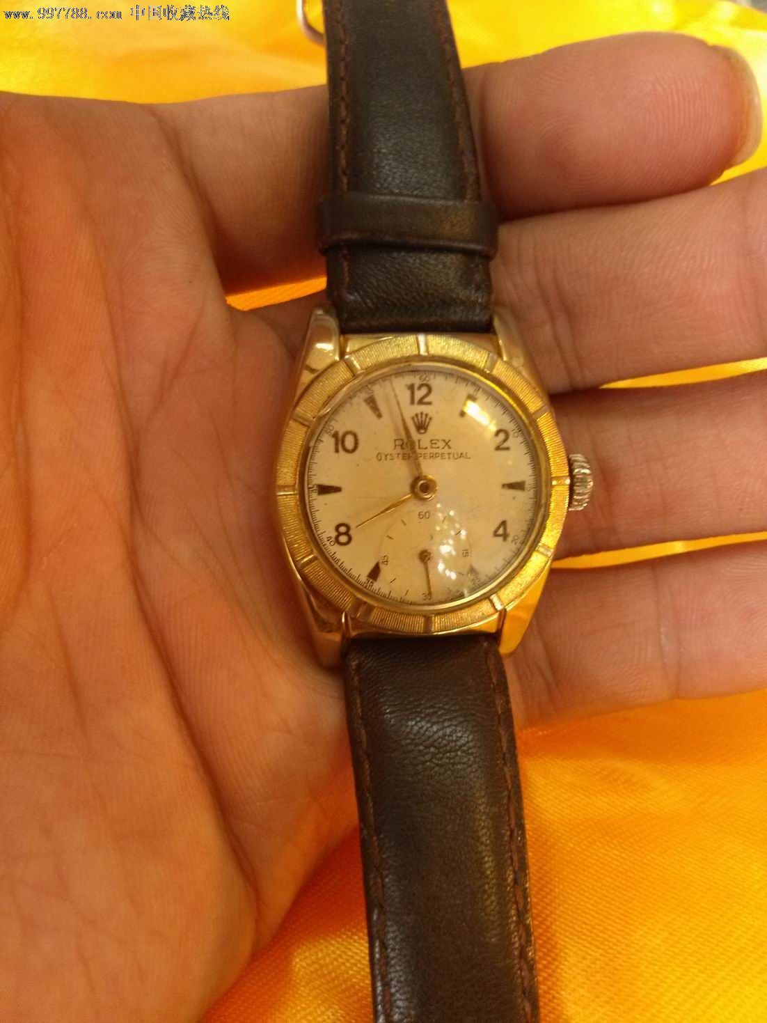 老劳力士,手表/腕表,机械,年代不详,劳力士,镀黄金,瑞士,三针_第2张图片