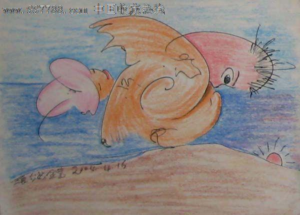 钢笔彩铅画——人物04【西画专营店】_第1张_7788收藏__中国收藏热线