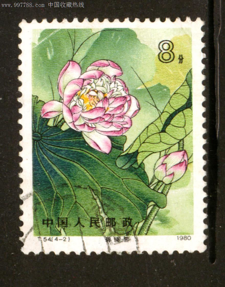 邮票_t54荷花4—2信销邮票上品