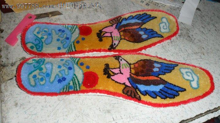 纯手工鞋垫--非常精美【见图扫描,包满意,长度26.5厘米,老鹰】