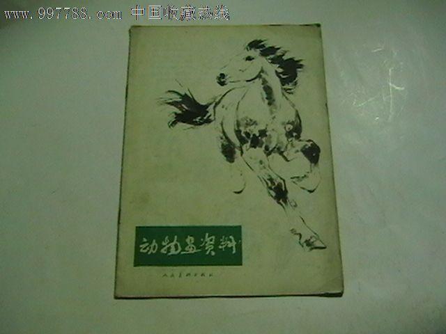动物画资料(77年一版一印,刘继卣的各种马的绘画技法)