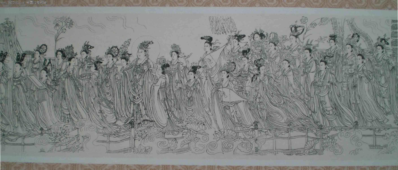 手工钢板雕刻版画---八十七神仙卷(北京印钞厂)