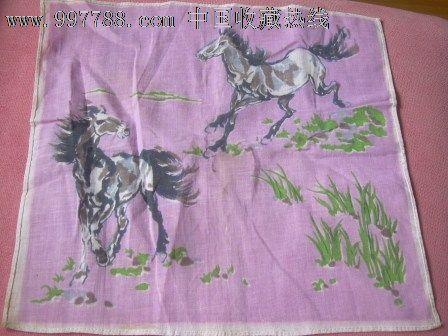 手帕/手绢-手帕/手绢 属性: 纱布,,染色,,80-89年,,正方形,,动物