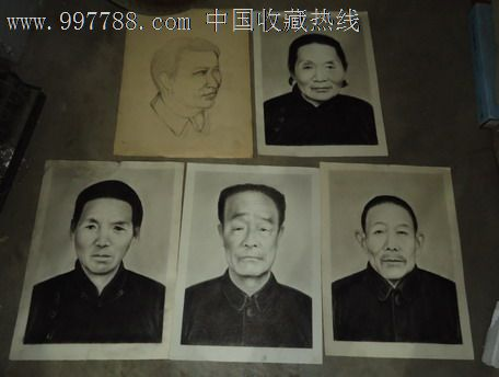 5张手绘8开人物标准像