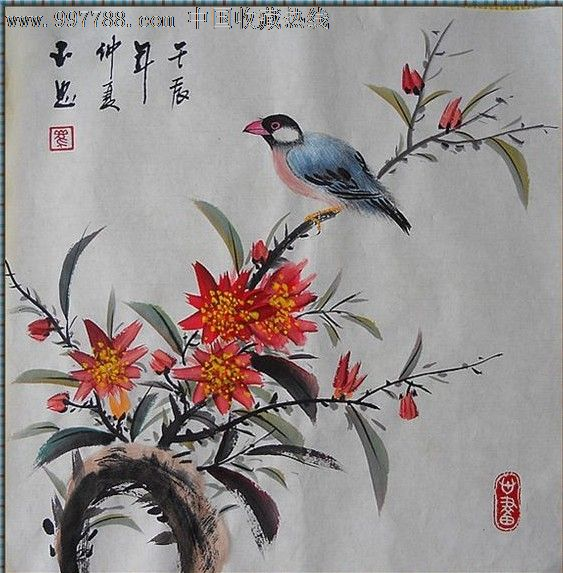 擅长小写意花鸟画和工笔动物画创作