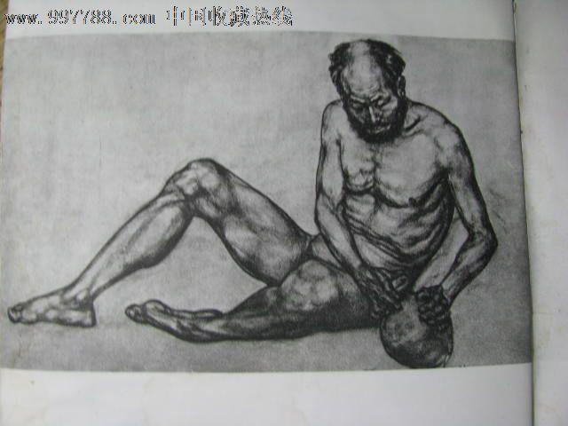 老年素描写生头像模特照片