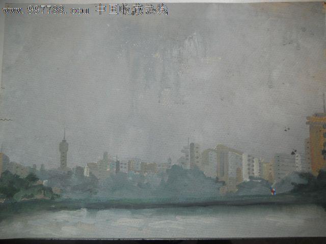 海边城市-se13540374-水粉/水彩原画-零售-7788收藏
