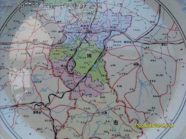淄博市地图--盘