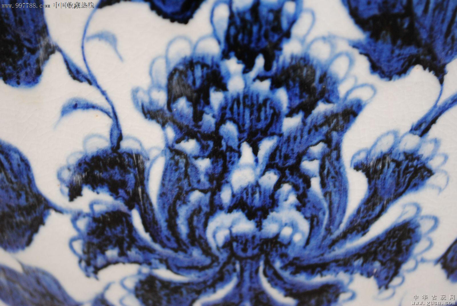 元青花缠枝牡丹花纹大梅瓶_青花瓷_第3张_七七八八瓷器收藏