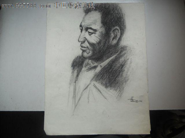 铅笔画原画,,人物,,80-89年