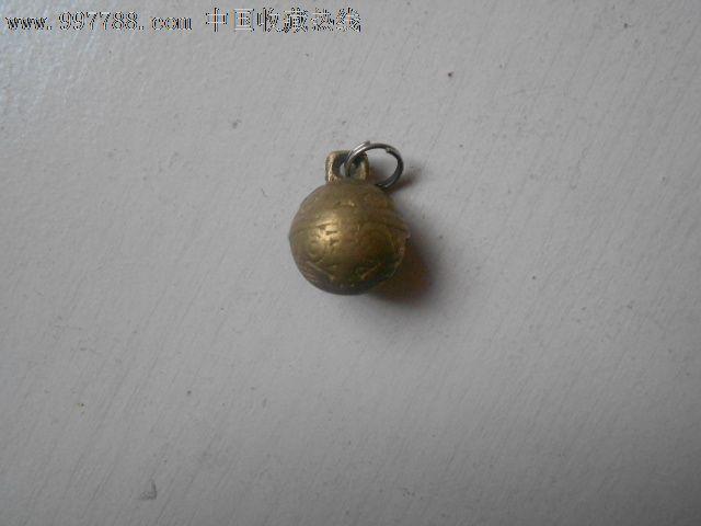 小老虎头铜铃一个