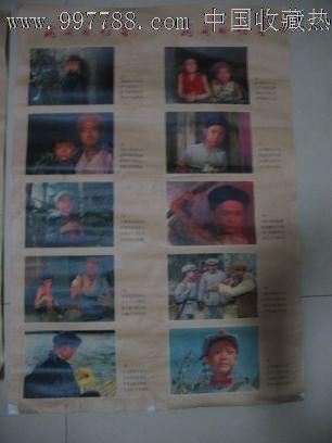 彩色故事片《闪闪的红星》电影宣传画-电影海报--se