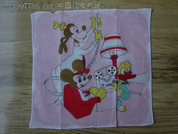 动物手帕,手帕/手绢,棉制,印花,八十年代(20世纪),正方形,动物_第1张
