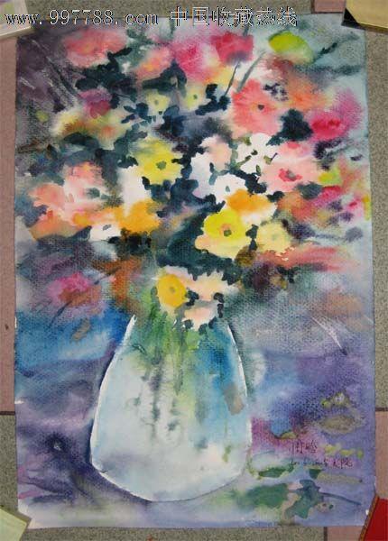 水彩画——静物花卉
