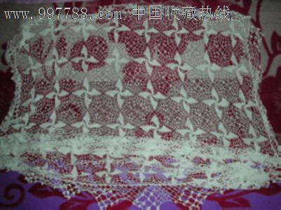 70年代怀旧手工钩针编织棉线镂空台布