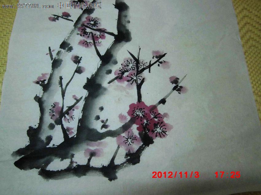 手绘书画:红梅图