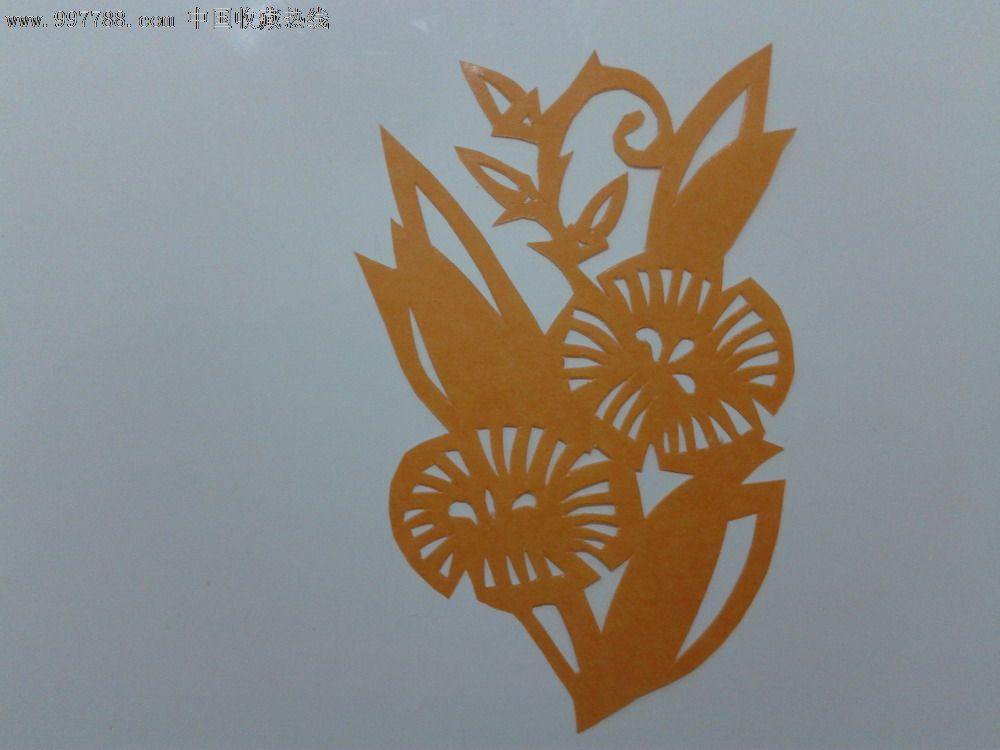 小花剪纸_价格3元【杂货园子】