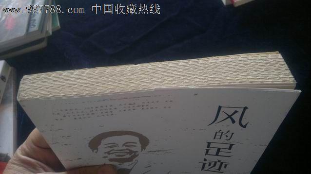 毛边本———风的足迹(小16开)朱惠鹏著(现任乌鲁木齐市广播电视局