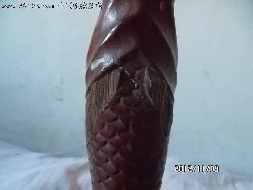 文革木雕金鱼