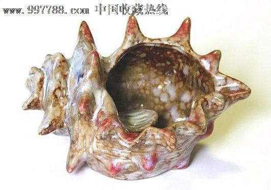 陶瓷烟灰缸-海螺