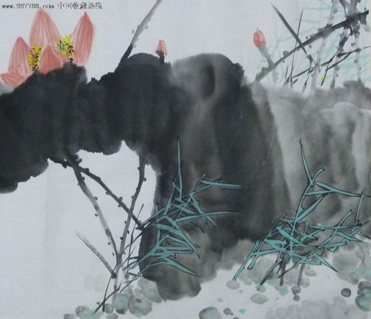 中国画写意荷花《荷风》