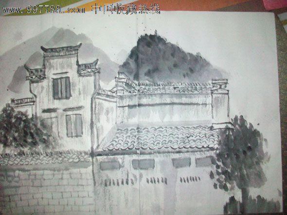 精品国画册页:西安美院教授李百战安徽写生