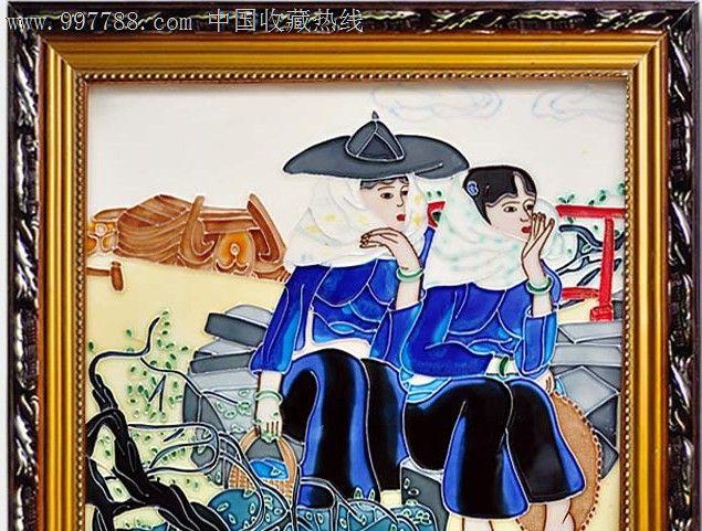 立体画欧式风情装饰陶瓷瓷板画瓷版画装饰墙壁画人物