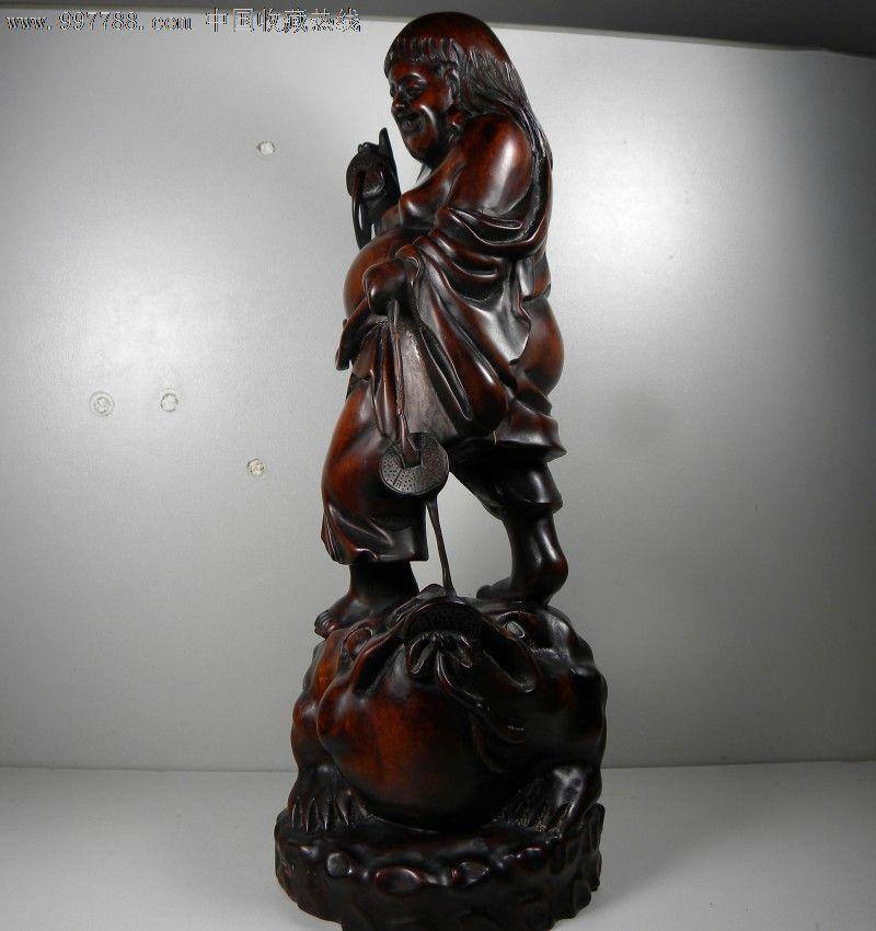 清代精品黄杨木雕――[刘海戏金蟾]