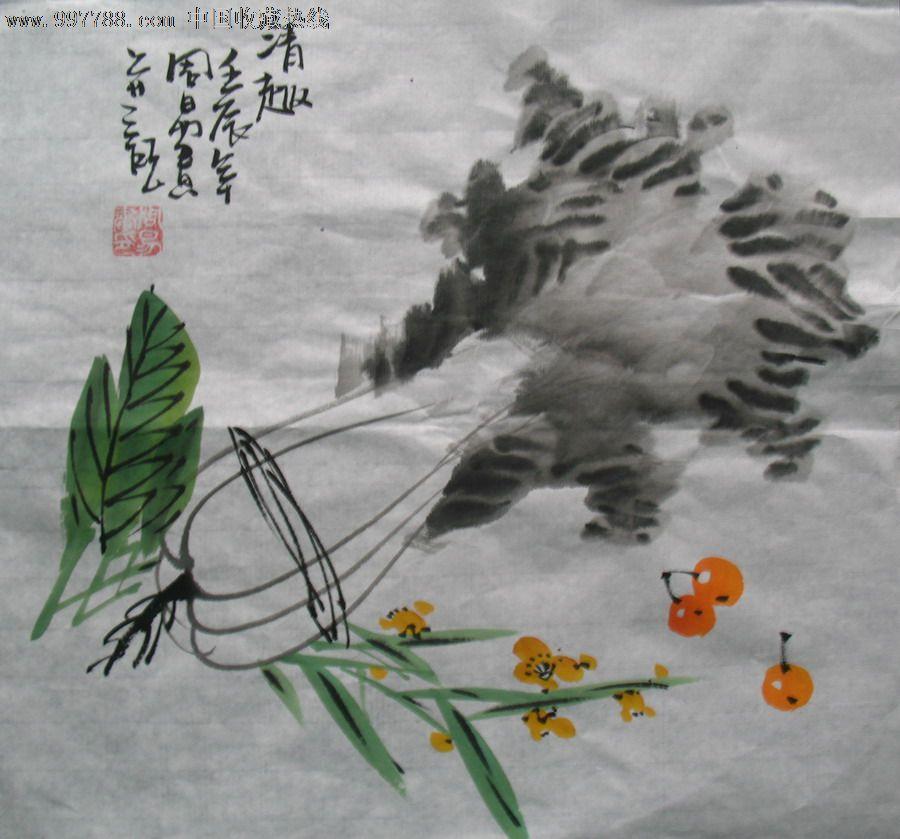 儿童国画白菜画法步骤