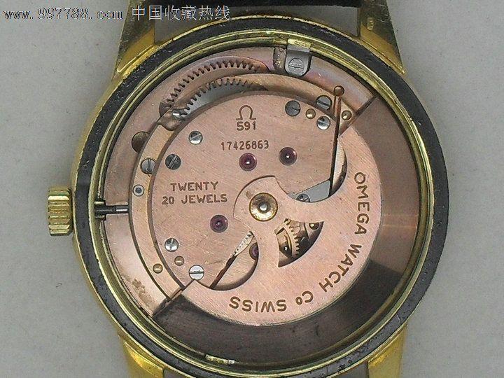 18k实金,欧米茄omega,全自动男士手表,型号591,性价比图片