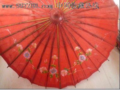 老木质手绘伞面雨伞