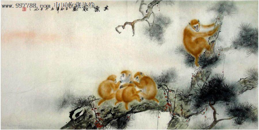 品种: 花鸟国画原作-花鸟国画原作 属性: 畜兽画原画,,工笔白描画法