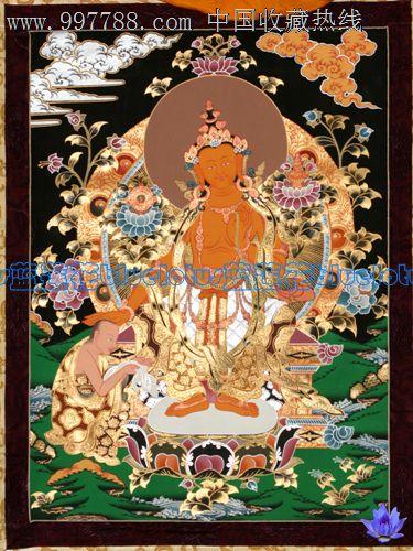 尼泊尔天然矿物质颜料手绘唐卡弥勒佛