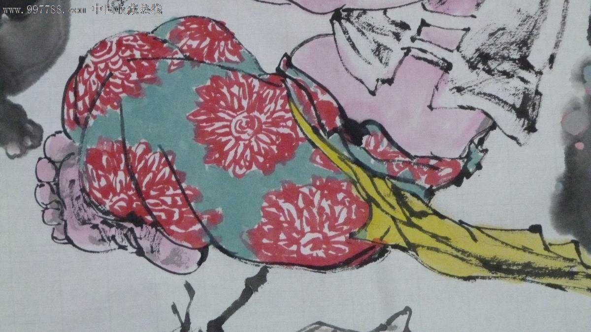 中国画写意人物《小伙伴》