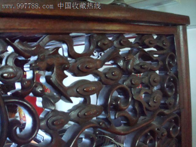 古董古玩收藏真品清末红木镂空雕刻蝙蝠床