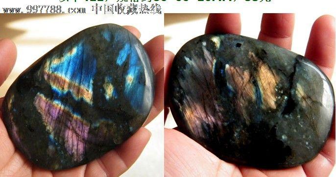 正品月光石原石把玩摆件观赏石蓝光金光411号图片