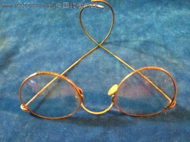 民国金丝老光眼镜150度